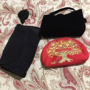 NWOT NEVER USED SET OF 3 COSMETICS BAGS NEVER USED